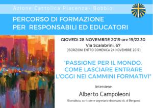 Laboratorio Di Formazione - 28.11.2019 @ Centro Diocesano di Azione Cattolica